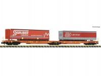 kontejnerový dvojvůz Sdggmrs/T2000 AAE s dvěma návěsy VI.epocha