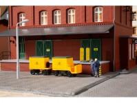 elektrický poštovní vozík s přívěsem