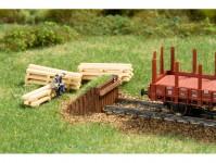 Auhagen 44655 koncovka koleje dřevěná