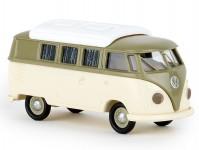 Brekina 31602 VW T1b Camper šedozelený / béžový