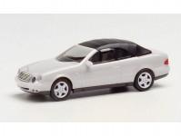 Herpa 032582-002 MB CLK cabrio stříbrná metalíza