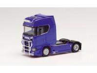Scania CS20 HD tahač modrý s ochranným rámem