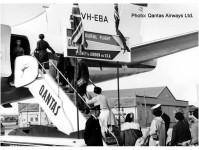 historické nástupní schůdky Qantas