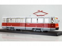 tramvaj KTM-5M3 bílá / červená