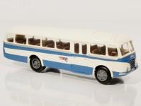 Škoda 706 RO modrý/bílý, pruh, 1x2-dílné dveře