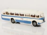 Škoda 706 RO modrý/bílý, pruh, 1x4-dílné dveře