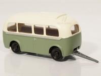 RA Došlý 910404 přívěs Karosa D4 zelený/bílý H0