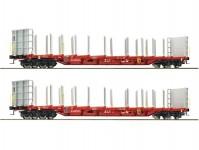 Roco 76141 set plošinových vozů s klanicemi ÖBB V-VI.epocha 2ks