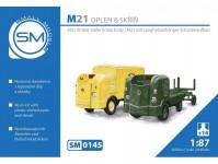 Small Models 0145k Multicar M21 oplen+ skříň