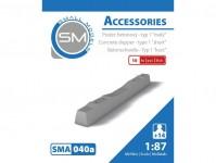 Small Models 040a pražec betonový - typ 1 malý (10ks)