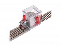štěrkovačka H0/00 s uzavírací klapkou a nastavitelnou výškou