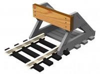 Proses PBF-N-01 stavebnice koncovky koleje z pravého dřeva 2 ks
