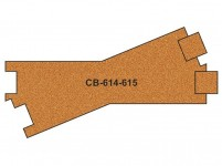 Proses PCB-614-5 korkové podloží 10ks pro R614-615