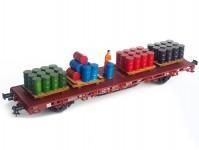 Proses PHL-K-07 náklad barelů na paletách barely