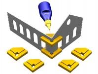 Proses PPR-SS-01 magnetické prvoúhlé držáky Snap & Glue 4ks