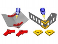 Proses PPR-SS-05 magnetické držáky Snap & Glue s nasavitelným úhlem 4ks