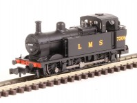 parní lokomotiva 3F Jinty Tank 7309 LMS černá