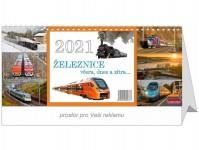 Literatura 69077 kalendář stolní 2021 - Železnice včera, dnes a zítra