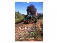 Literatura 69076 kalendář nástěnný 2021 - Parní lokomotivy v cizích službách