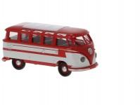 Brekina 31843 VW T1b Samba červený / světlešedý