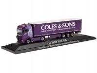 Herpa 122108 Scania CS20 plachtový návěs Coles&Sons