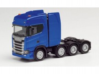 Herpa 308601-002 Scania CS HD tahač 4-osý modrý