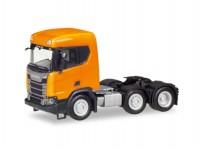 Herpa 309028-002 Scania CR XT ND tahač 3-osý oranžový