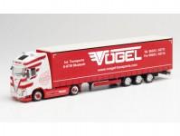 Herpa 312486 Volvo FH Gl XL plachtový návěs Vögel