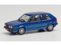 Herpa 430838 VW Golf II GTI modrá metalíza