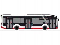 Rietze 76307 MAN Lion 20s City 12 2018 electric Hamburger Hochbahn