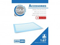 Small Models 203 sada obtisků Bílé pruhy 16x35 mm