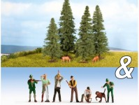 Noch 94015 lesníci, lesní dělníci a jedle