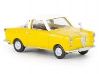 Brekina 27853 Goggomobil Coupé žlutý/bílý
