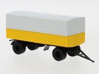 Brekina 55332 přívěs s plachtou dvouosý žlutý
